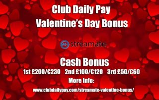 Streamate Valentine's Day Bonus