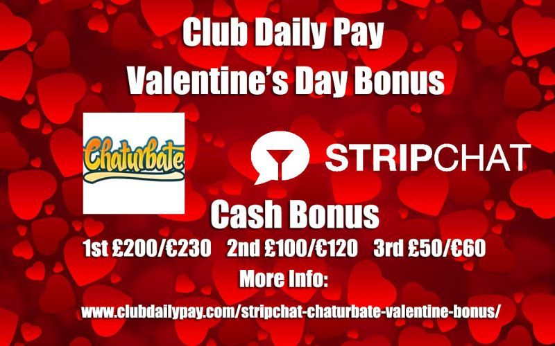 StripChat and Chaturbate Valentine's Bonus